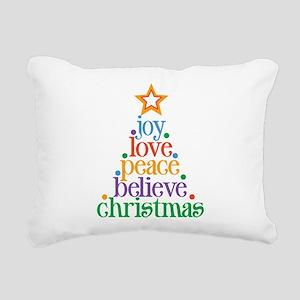 Joy Love Christmas Rectangular Canvas Pillow