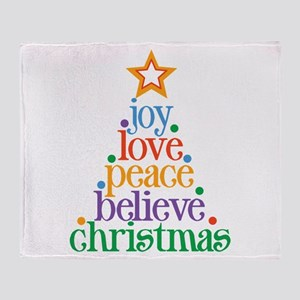 Joy Love Christmas Throw Blanket