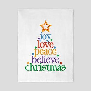 Joy Love Christmas Twin Duvet
