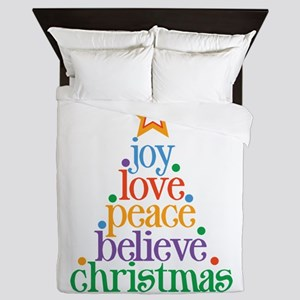 Joy Love Christmas Queen Duvet