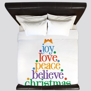 Joy Love Christmas King Duvet