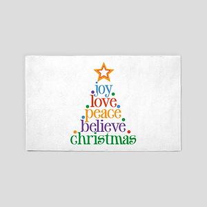 Joy Love Christmas 3'x5' Area Rug