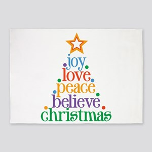 Joy Love Christmas 5'x7'Area Rug