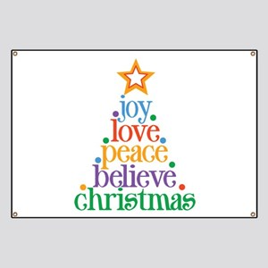 Joy Love Christmas Banner