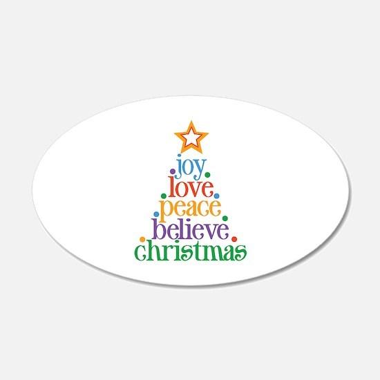 Joy Love Christmas Wall Sticker