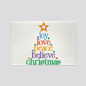 Joy Love Christmas Rectangle Magnet