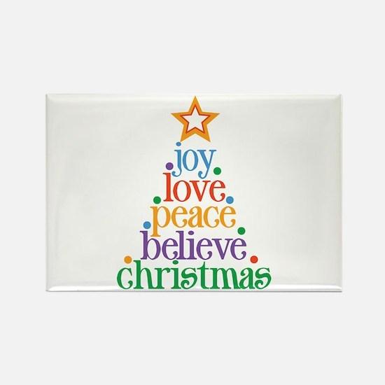 Joy Love Christmas Rectangle Magnet