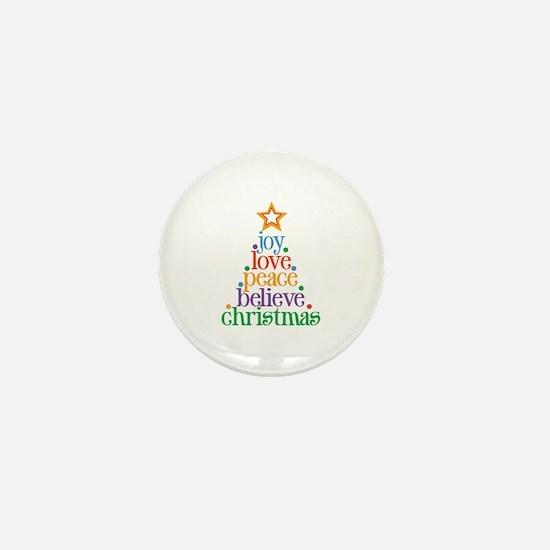 Joy Love Christmas Mini Button