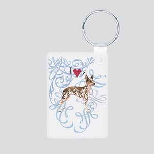 orchid-oval charm Aluminum Photo Keychain