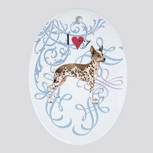 orchid-oval charm Oval Ornament
