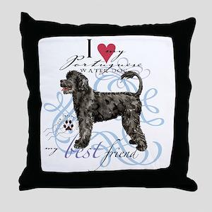Port dogT1 Throw Pillow