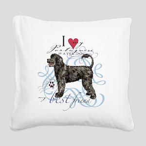 Port dogT1 Square Canvas Pillow