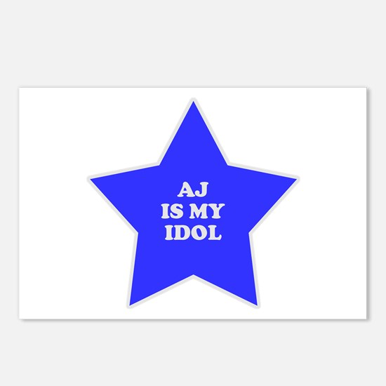 AJ Is My Idol Postcards (Package of 8)