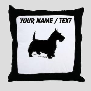 Custom Scottish Terrier Throw Pillow