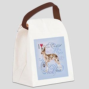 orchid-tile Canvas Lunch Bag