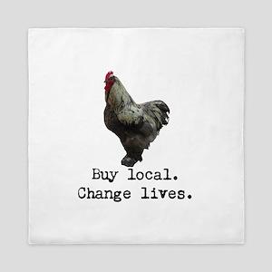 Buy Local. Change Lives. Chicken Queen Duvet