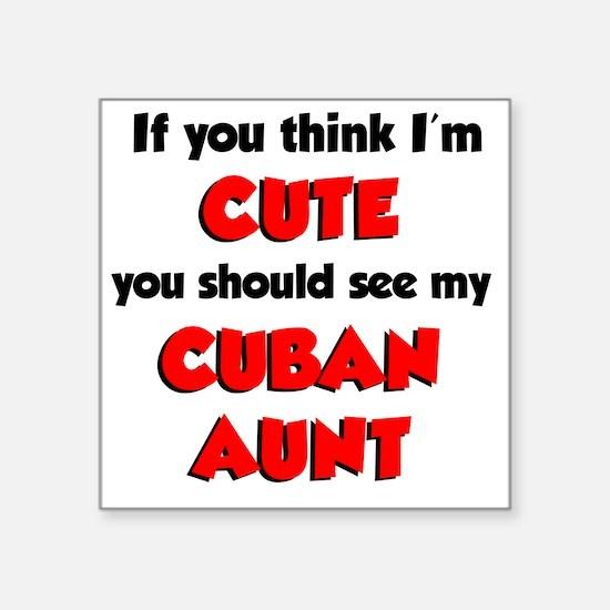 """Cute Cuban Aunt Square Sticker 3"""" x 3"""""""