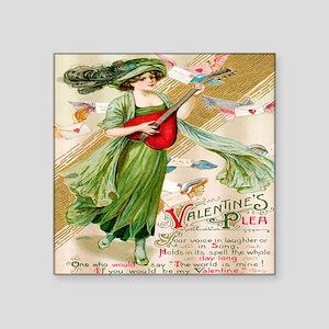 "apparel-vintage-valentine03 Square Sticker 3"" x 3"""