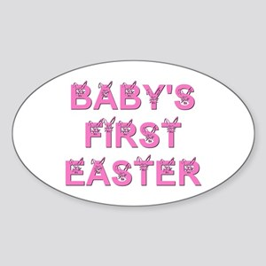 BABY'S FIRST EASTER Oval Sticker