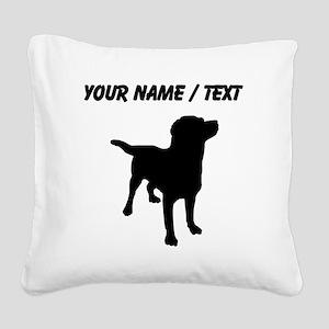 Custom Labrador Retriever Square Canvas Pillow