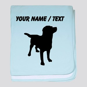 Custom Labrador Retriever baby blanket