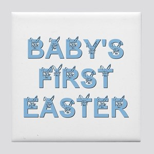 BABY'S FIRST EASTER Tile Coaster