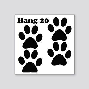 "hang20 Square Sticker 3"" x 3"""
