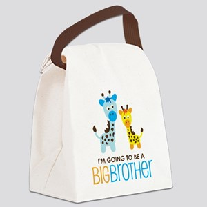 GiraffeBigBrotherToBeV2 Canvas Lunch Bag