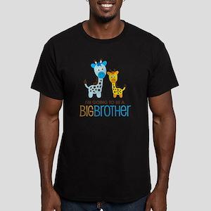GiraffeBigBrotherToBeV Men's Fitted T-Shirt (dark)