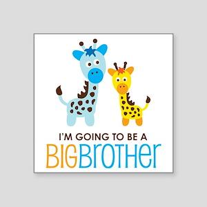 "GiraffeBigBrotherToBeV2 Square Sticker 3"" x 3"""