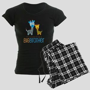 GiraffeBigBrotherToBeV2 Women's Dark Pajamas