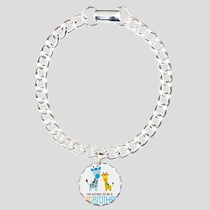 GiraffeBigBrotherToBeV2 Charm Bracelet, One Charm