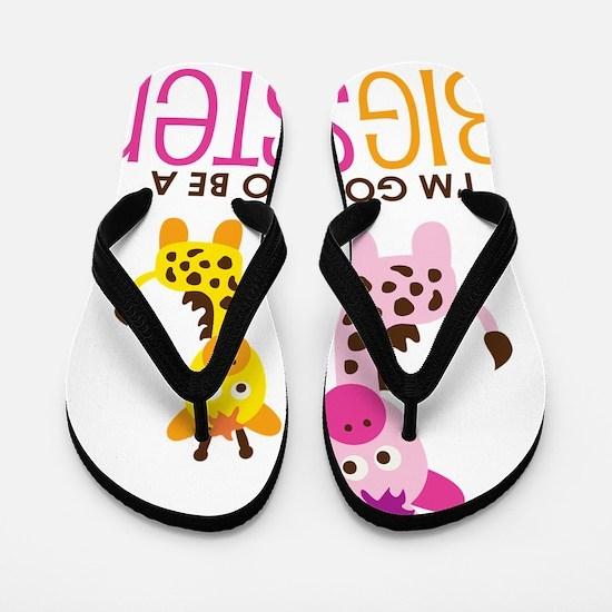GiraffeBigSisterToBe Flip Flops