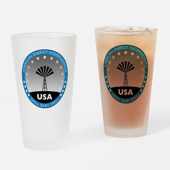 jan11_drillbabydrill Drinking Glass