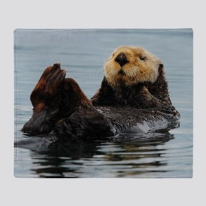 115x9_calender_otter_10 Throw Blanket