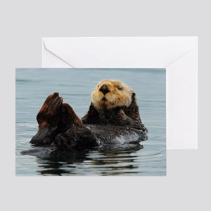 115x9_calender_otter_10 Greeting Card