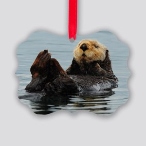 115x9_calender_otter_10 Picture Ornament