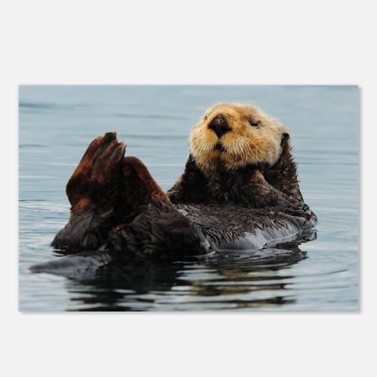 115x9_calender_otter_10 Postcards (Package of 8)