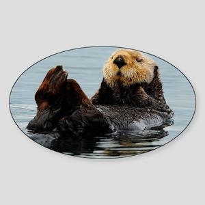 115x9_calender_otter_10 Sticker (Oval)
