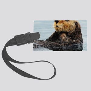 115x9_calender_otter_11 Large Luggage Tag