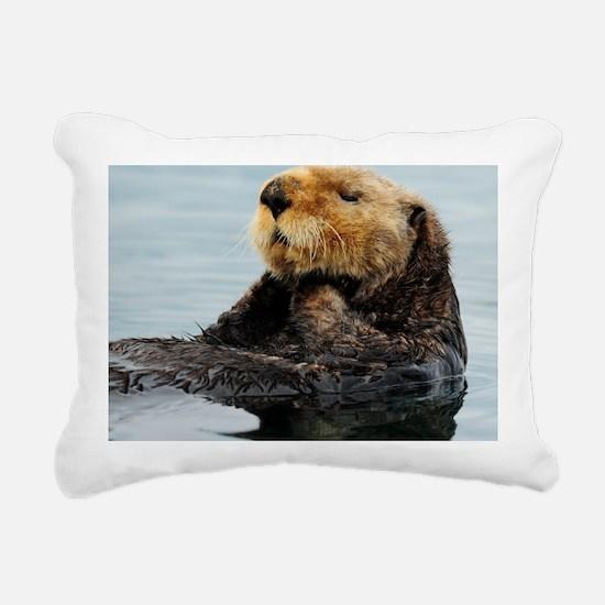 115x9_calender_otter_11 Rectangular Canvas Pillow