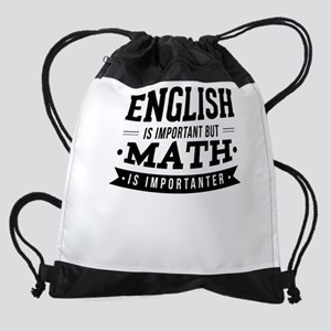 "The shirt reads ""English Is Importa Drawstring Bag"