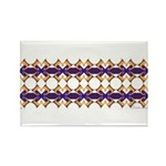 'Mardi Gras' Rectangle Magnet