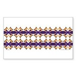 'Mardi Gras' Rectangle Sticker