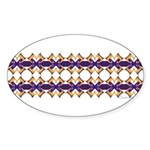 'Mardi Gras' Oval Sticker