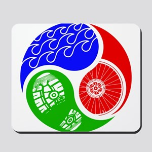 Triathlon TRI Swim Bike Run Yin Yang Mousepad