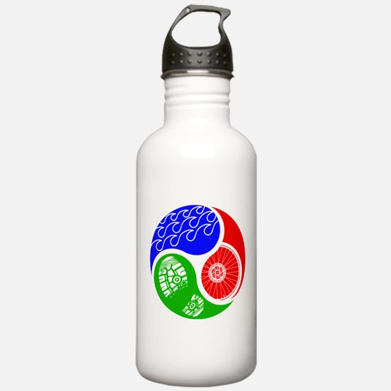 Triathlon TRI Swim Bike Run Yin Yang Water Bottle