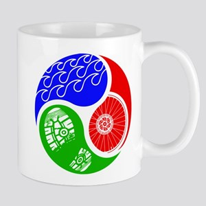 Triathlon TRI Swim Bike Run Yin Yang Mugs