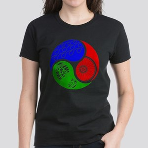 Triathlon TRI Swim Bike Run Yin Yang T-Shirt