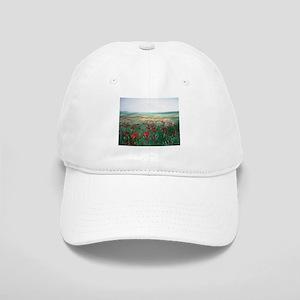 poppy poppies art Cap